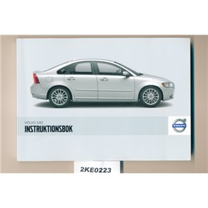 Volvo S40 owners manual 2008