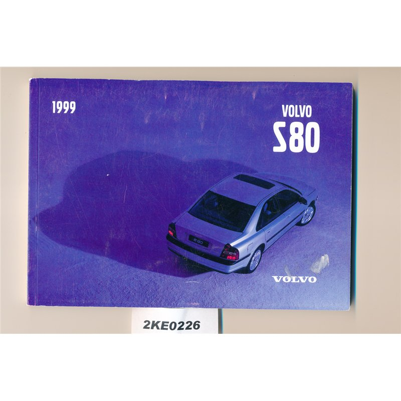 Volvo S80 Owners Manual 1999